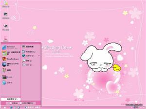 睡眠小白兔电脑主题