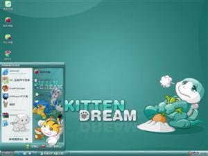 小猫的梦想电脑主题