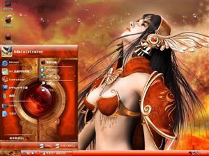 CG游戏美女电脑主题