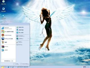 白色天使电脑主题