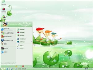 绿色卡通电脑主题