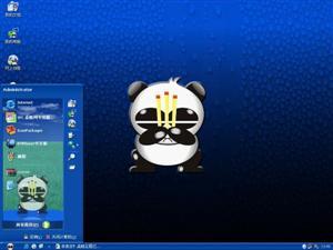 熊猫烧香蓝色电脑主题
