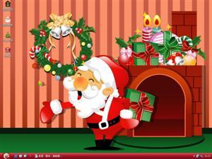 欢乐圣诞老人电脑主题