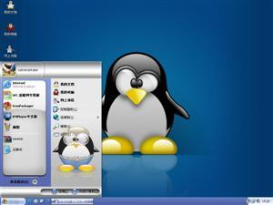 可爱小企鹅电脑主题