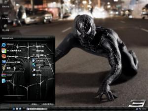 蜘蛛侠黑色电脑主题