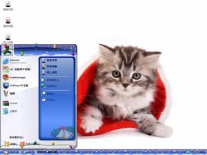 圣诞猫电脑主题