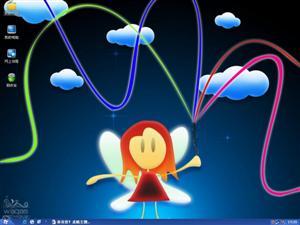 彩虹小天使电脑主题