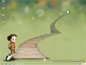 韩国HARU可爱插画电脑主题