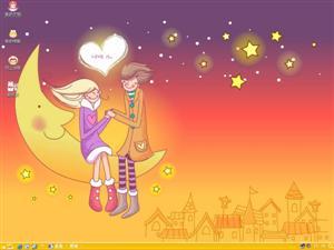 爱是什么甜蜜情侣电脑主题