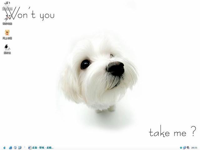 漂亮狗狗桌面主题