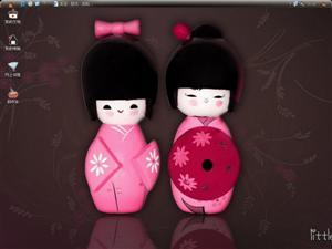 日本可爱木偶电脑主题