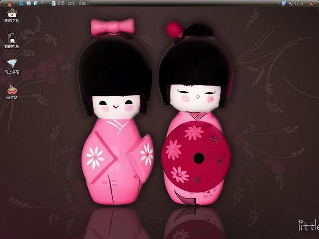 日本可爱木偶桌面主题