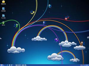 彩虹小精灵电脑主题