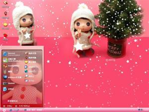 红粉迷糊娃娃电脑主题