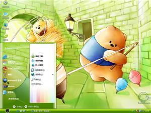 卡通高熊市电脑主题