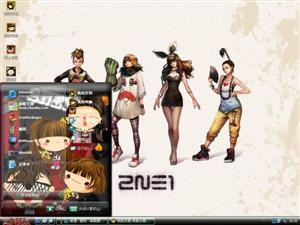 2NE1卡通版电脑主题