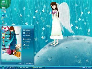 美丽的梦幻女孩电脑主题