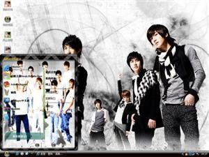 Super Junior人气组合电脑主题