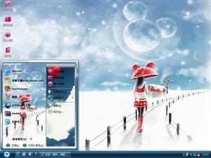 唯美雪景电脑主题