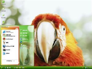 可爱鹦鹉电脑主题