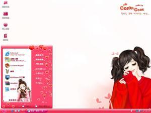 韩国卡通女孩电脑主题
