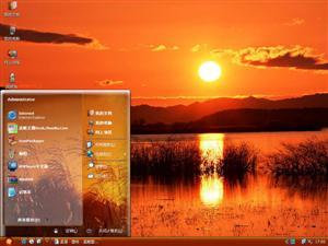 夕阳稻穗电脑主题