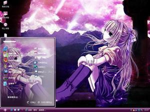 紫色星空电脑主题