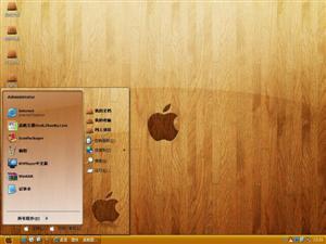 木质苹果MAC电脑主题
