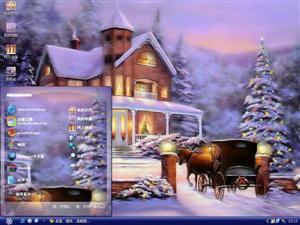 浪漫圣诞屋电脑主题