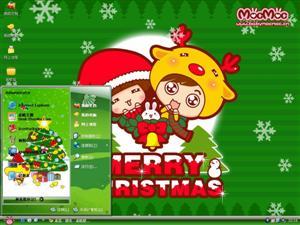 圣诞芒果仔电脑主题