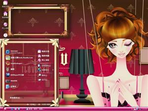 时尚女孩电脑主题