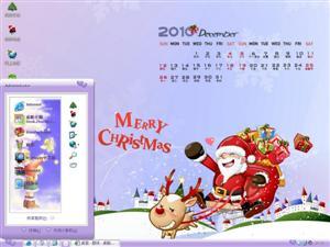 十二月圣诞月历电脑主题