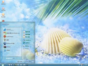 沙滩海贝电脑主题