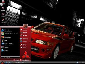 三菱EVO跑车电脑主题
