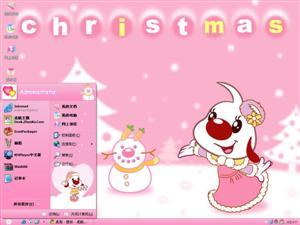 辛巴狗和哈米兔圣诞节电脑主题