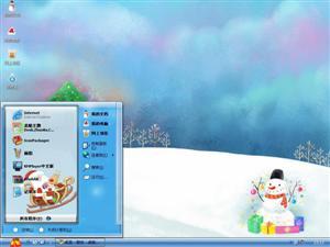 水彩温馨圣诞插画电脑主题