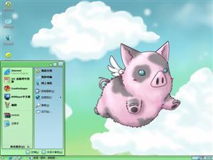 飞天小猪电脑主题