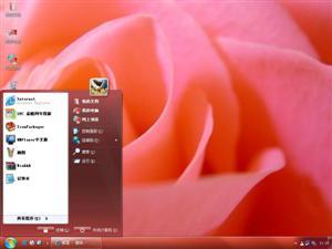 粉红玫瑰电脑主题