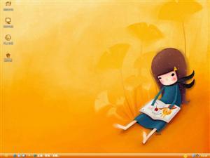 可爱女孩电脑主题