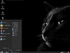 黑猫电脑主题