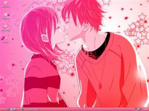 动漫爱情情侣电脑主题