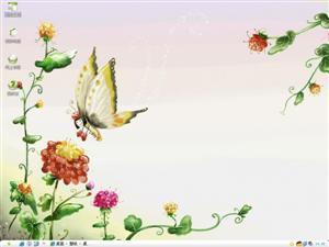 可爱蝴蝶电脑主题