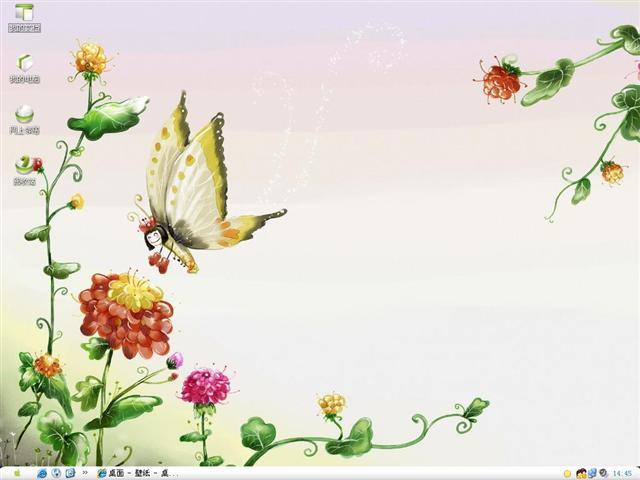 可爱蝴蝶桌面主题