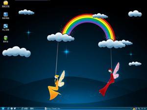 彩虹天使电脑主题