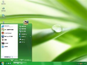 绿叶上的水滴电脑主题
