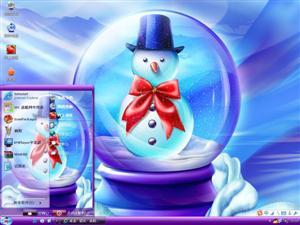 可爱小雪人电脑主题