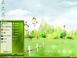 绿色手绘电脑主题
