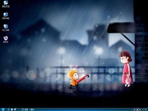 爱的雨伞电脑主题