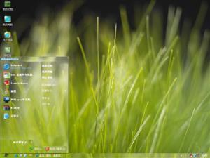 绿色草丛电脑主题