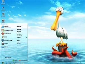 搞笑3D塘鹅电脑主题